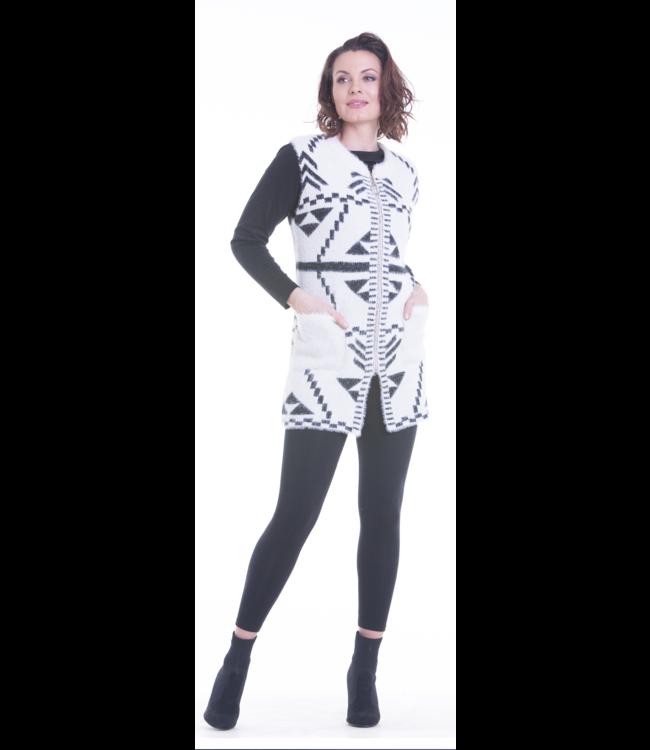 Short Sleeve Full Length Zipper Sweater with pockets
