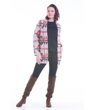 Nu Look Fashions Cardigan with Aztec Pattern