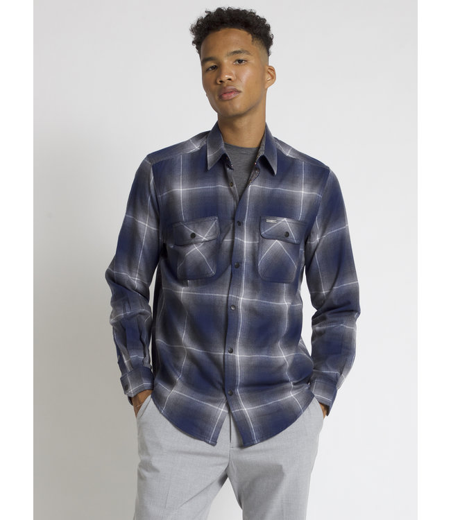 SEMI-FIT COTTON BRUSHED FLANNEL SHIRT