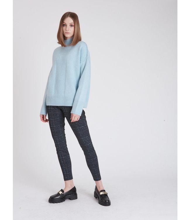 Moc Neck Long Sleeve Sweater