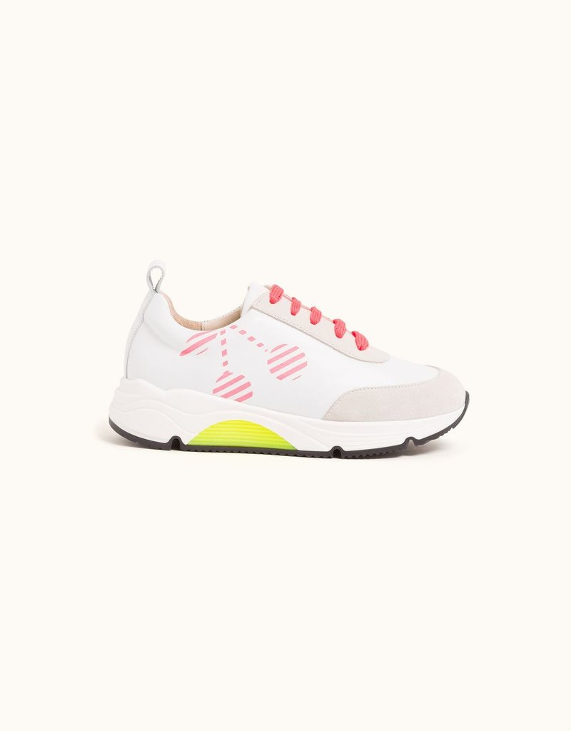Jump Sneaker Neon Coral