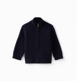 Navy Zip Up Sweater - 18 months