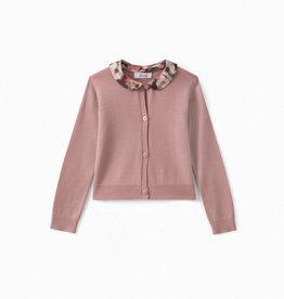 Pink Collared Cardigan