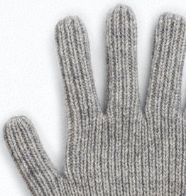 Grey Knit Gloves