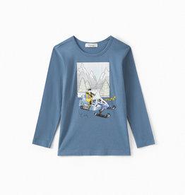 Blue Snowmobile Shirt