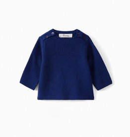 Knit Blue  - 18 months