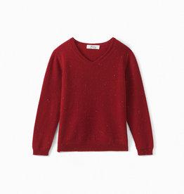 Red V Neck Sweater