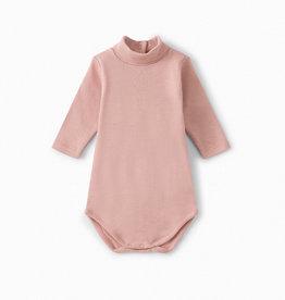 Pink Turtleneck Onesie - 12 months