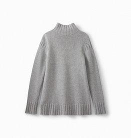 Grey Cashmere Sweater - Medium