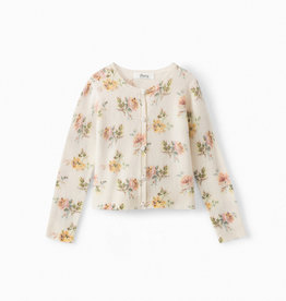 Floral Cashmere Cardigan