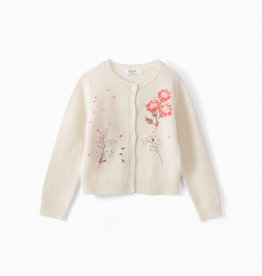 Embroidered Floral Cardigan - Size 6