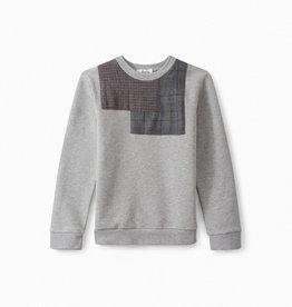 Plaid Patch Sweatershirt - 8 years