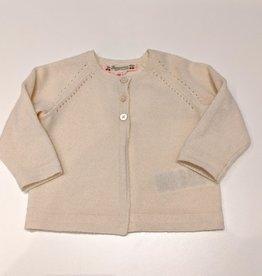 Cream Cashmere Cardigan - 6 months