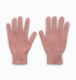 Pink Knit Gloves