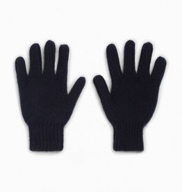 Navy Knit Cashmere Gloves