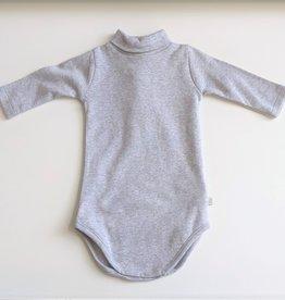 Grey Turtleneck Onesie - 6 months