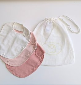 3 Organic Cotton Bib Set