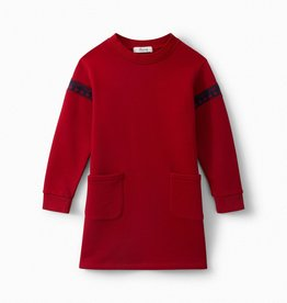 Red Sweatershirt Dress