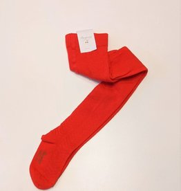 Red Patterned Tights - size 24 (2 years)