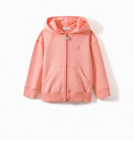 Peach Zip Up Sweatshirt