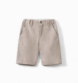 'Six' Cotton Herringbone Bermuda Shorts