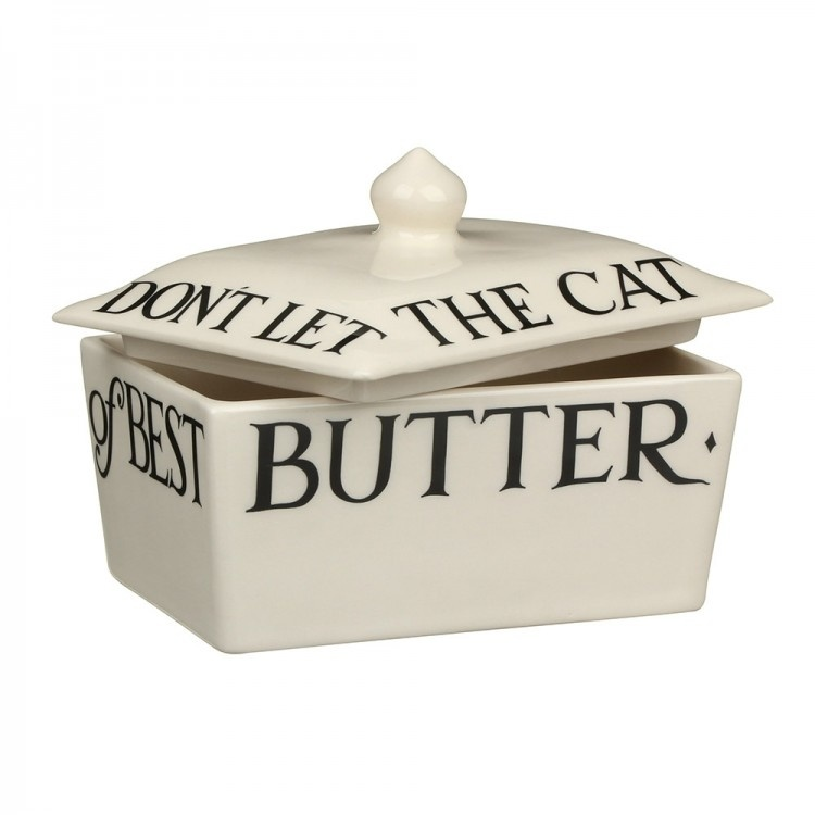 Butter Dish - Black Toast-1