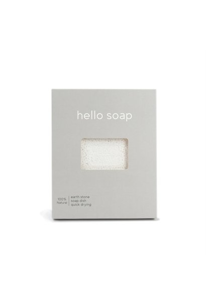 "Grey ""Hello Soap"" Dish"
