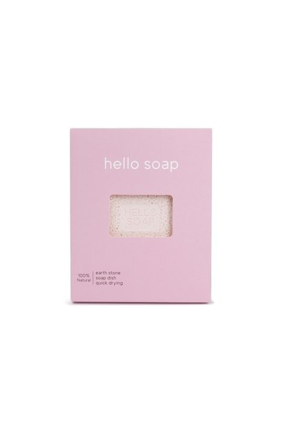 "Pink ""Hello Soap"" Dish"