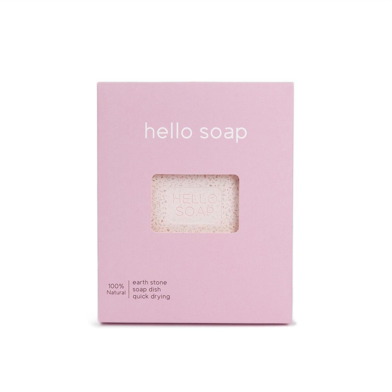 "Pink ""Hello Soap"" Dish-1"