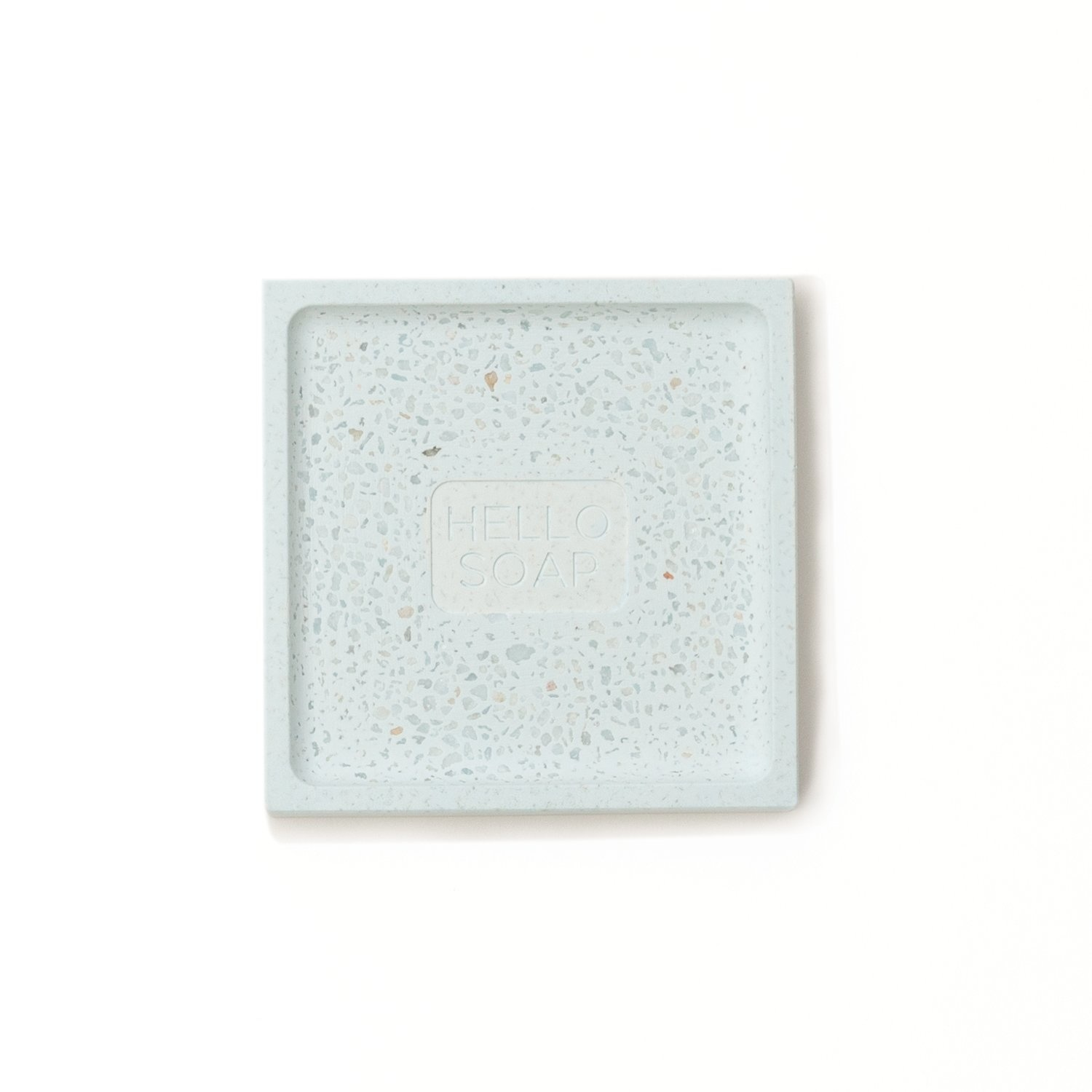 "Blue ""Hello Soap"" Dish-2"