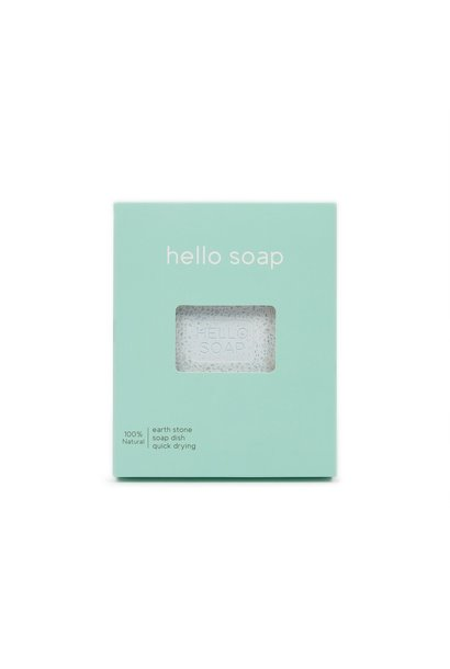 "Blue ""Hello Soap"" Dish"