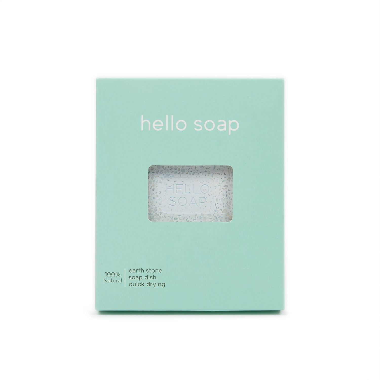 "Blue ""Hello Soap"" Dish-1"