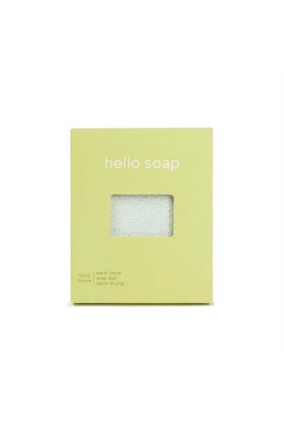 "Green ""Hello Soap"" Dish"