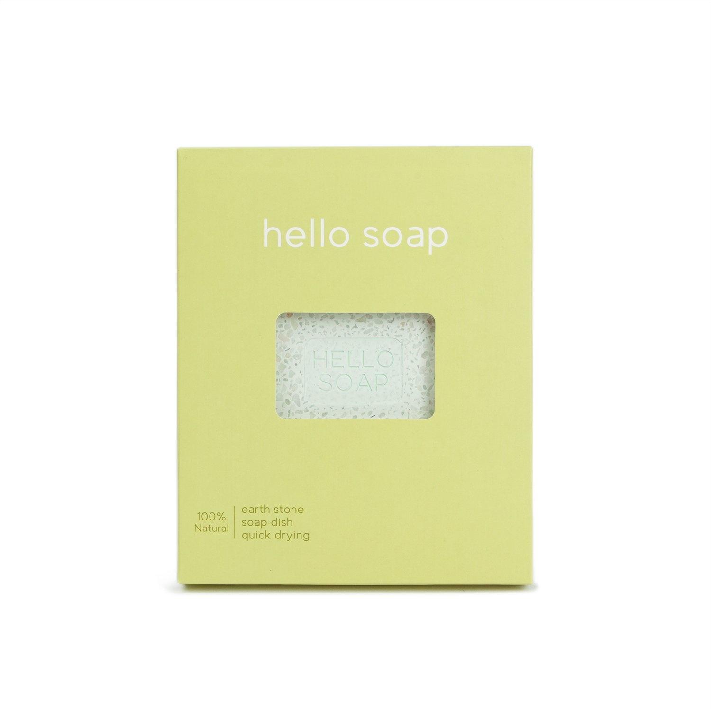 "Green ""Hello Soap"" Dish-1"