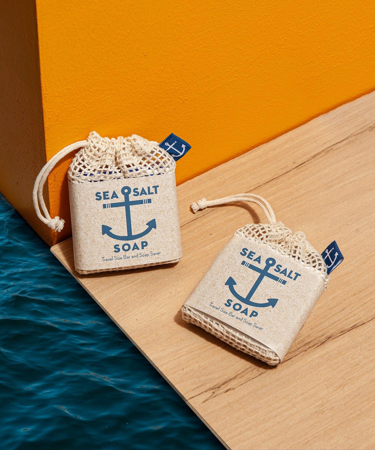Swedish Dream - Sea Salt Soap Travel Size Bar & Bag-2
