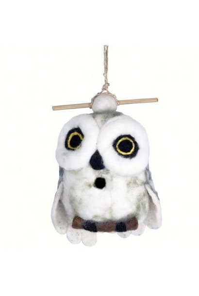Snowy Owl - Felt Bird House