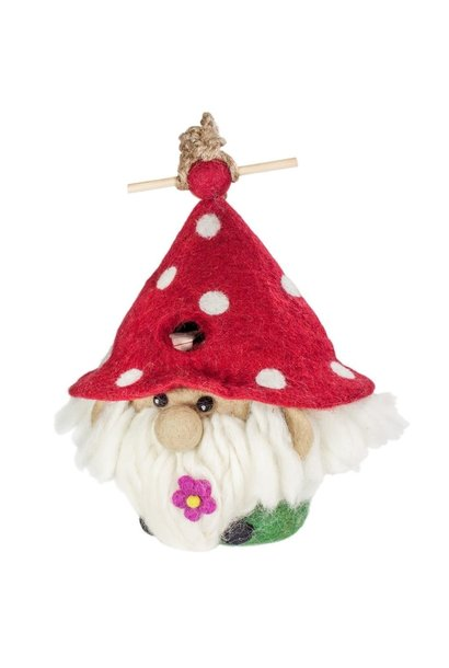 Garden Gnome - Felt Bird House