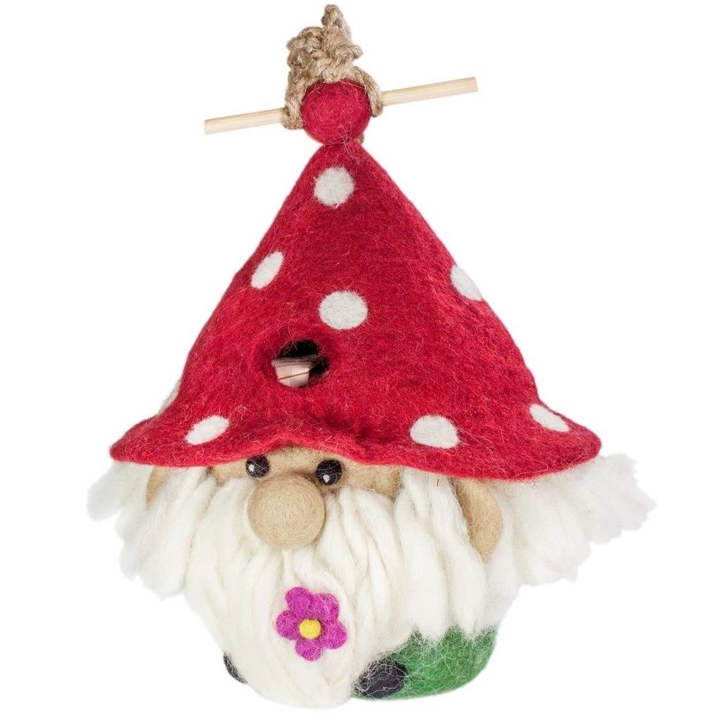 Garden Gnome - Felt Bird House-1