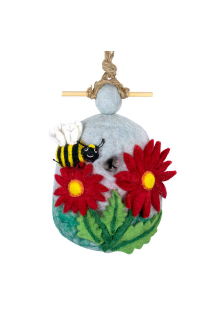 Bumble Bee - Felt Bird House