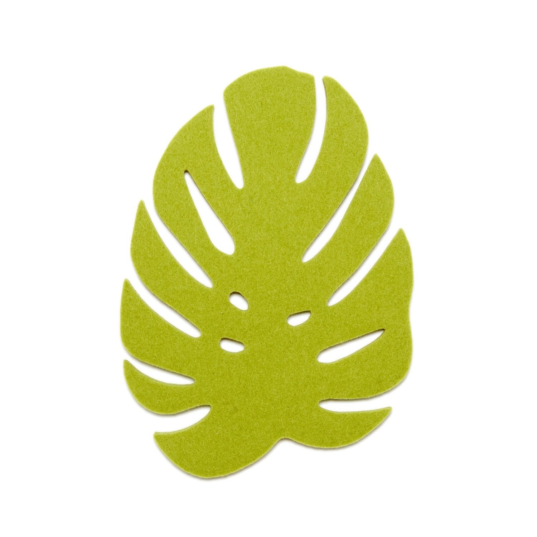 Monstera Trivet Small - Pistachio-1
