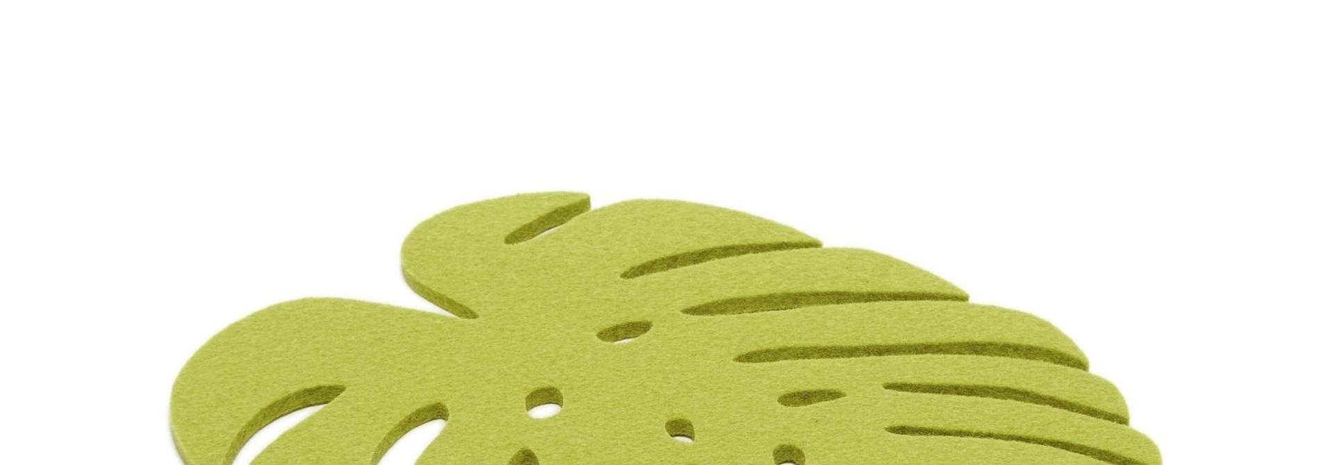 Monstera Trivet Medium - Pistachio