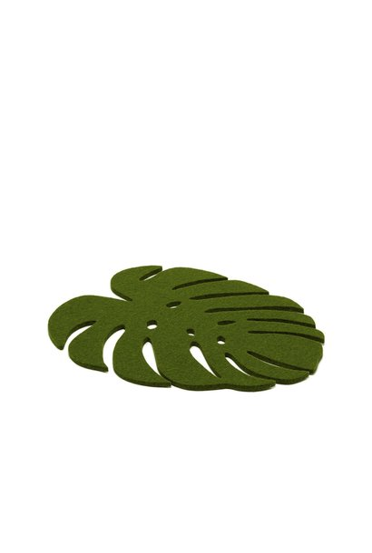 Monstera Trivet Medium - Loden Green