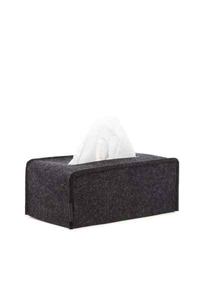 Felt Tissue Box Cover Large - Charcoal