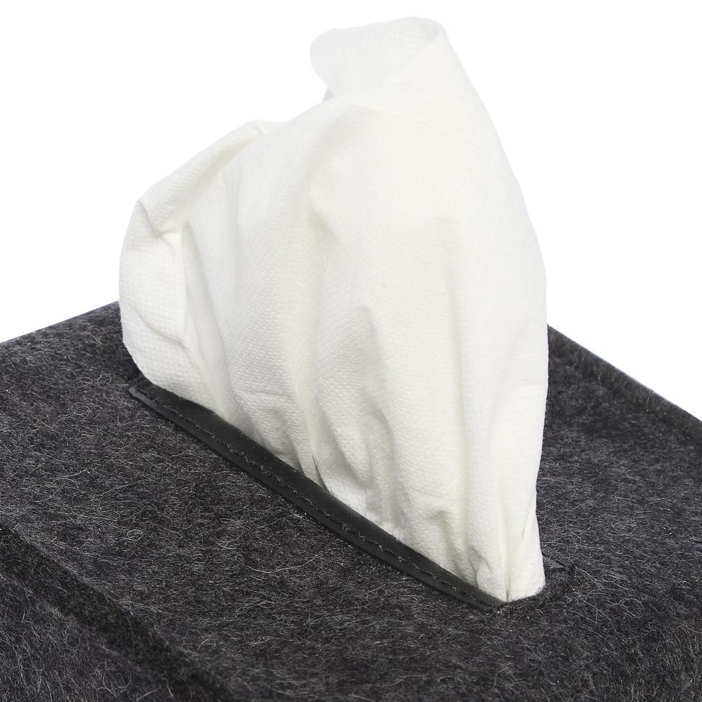 Felt Tissue Box Cover Small - Charcoal-2