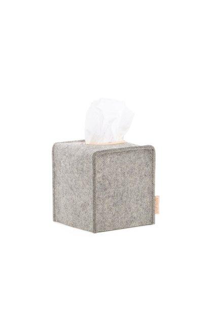 Felt Tissue Box Cover Small - Granite