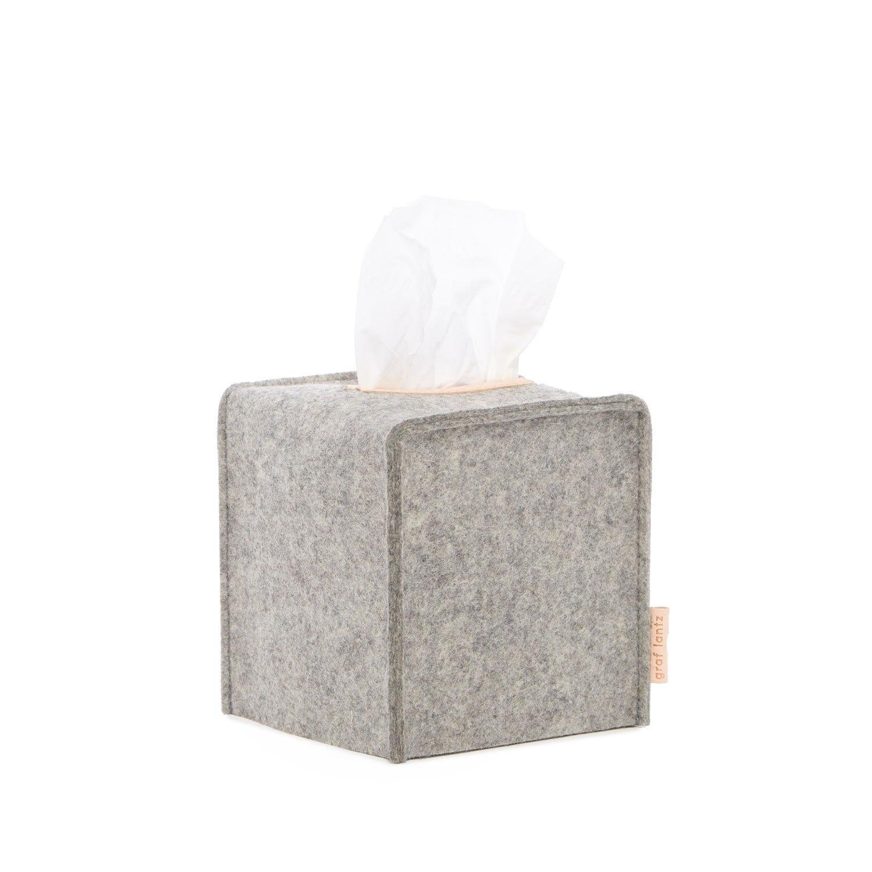 Felt Tissue Box Cover Small - Granite-1