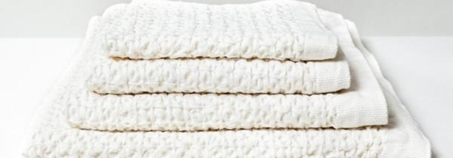 Lattice Face Towel - Ivory