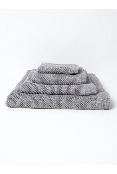 Lattice Face Towel - Ice Grey