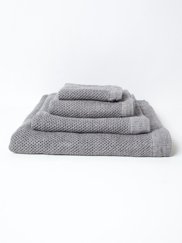 Lattice Face Towel - Ice Grey-1