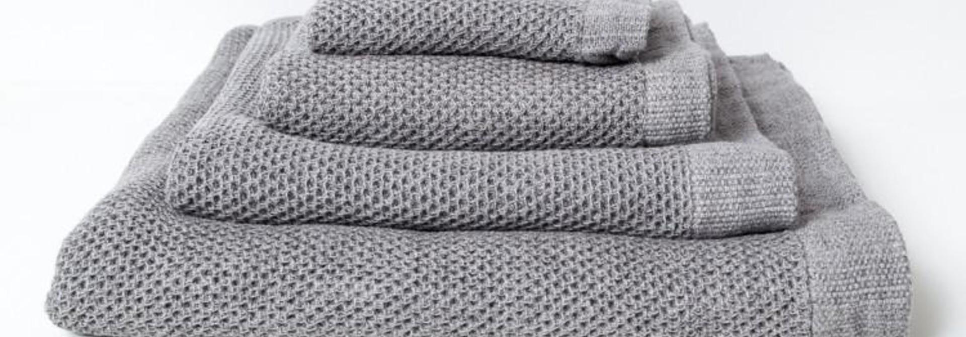 Lattice Hand Towel - Ice Grey